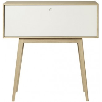 white / natural lacquered...