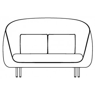 2-seater - Haiku sofa