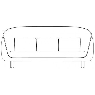 3-seater - Haiku sofa