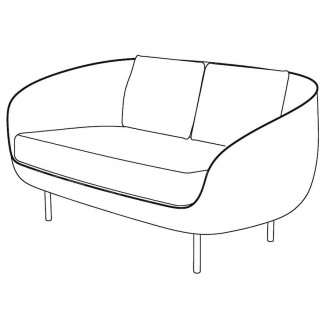 2-seater - Haiku Low sofa