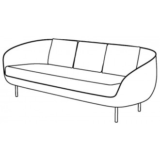 3-seater - Haiku Low sofa