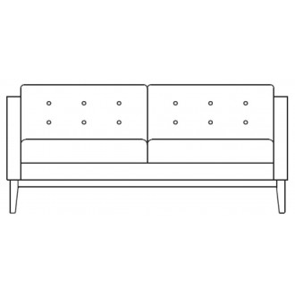 2-seater sofa Madison -...