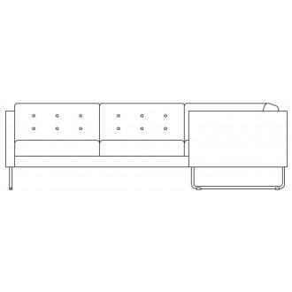 corner sofa Madison - sled...
