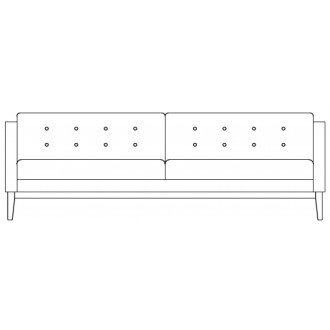 3-seater sofa Madison -...