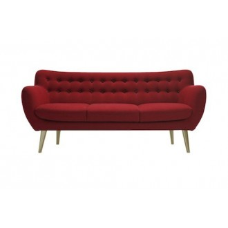 3 seater - red - wool...