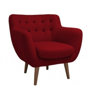 armchair - red - wool...