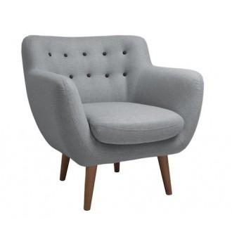 fauteuil - gris clair -...