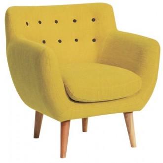 fauteuil - jaune - coton -...