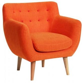 fauteuil - mandarine -...