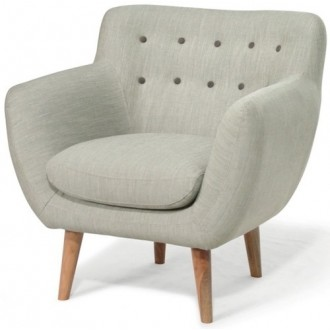 armchair - grey - cotton -...