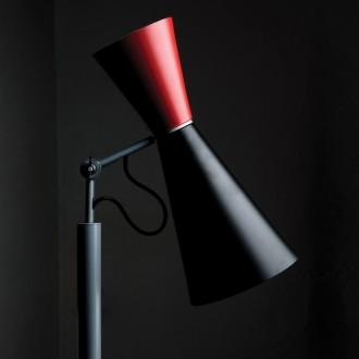 noir/rouge - lampadaire...
