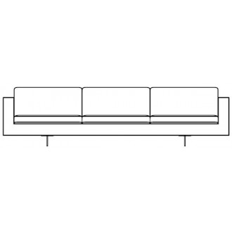 3 seater - Risom 65 sofa -...
