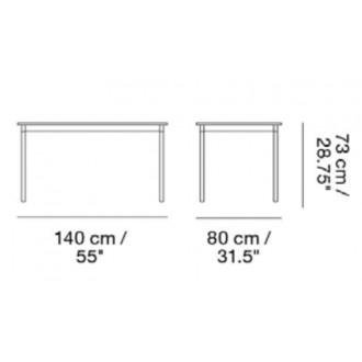140 x 80 cm Base table