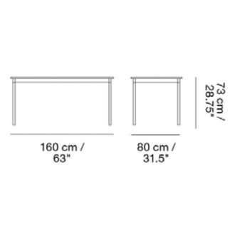 160 x 80 cm - table Base