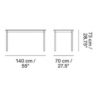140 x 70 cm - Base table
