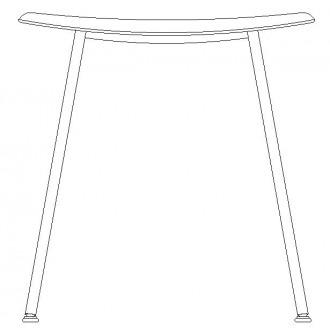 Fiber stool H45cm - tube base