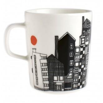 mug 2.5dl - black city...