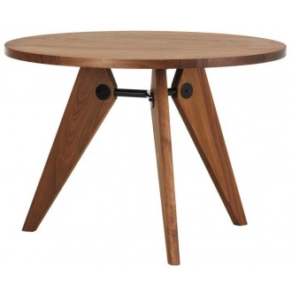 Ø90cm - noyer - table Guéridon