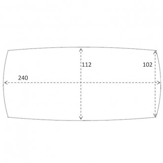 240 x 112 cm - table C28