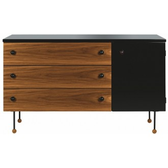 3 drawers, 1 cabinet -...