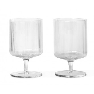 2 wine glasses – clear –...