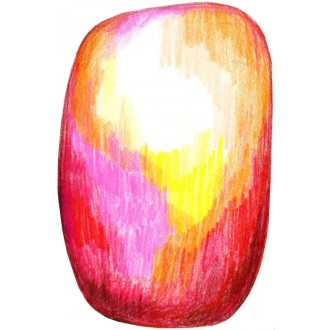 Scribble red/yellow rug -...