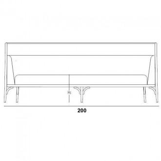 W200cm sofa - Targa