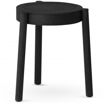 black painted oak - Pal stool
