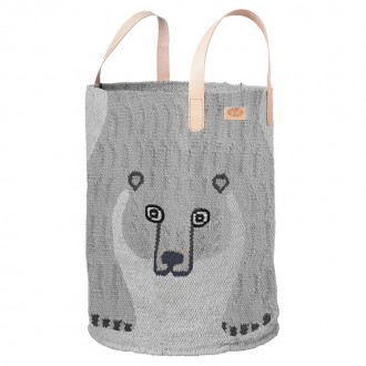 corbeille Ours gris clair