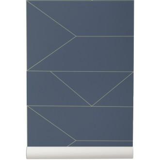 dark blue - Lines Wallpaper