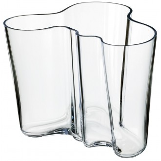 vase Aalto 160mm, transparent