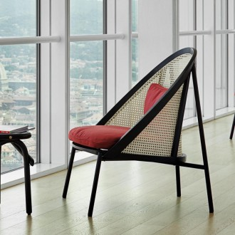 Loïe lounge chair - black...