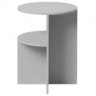 Halves Side Table - light grey