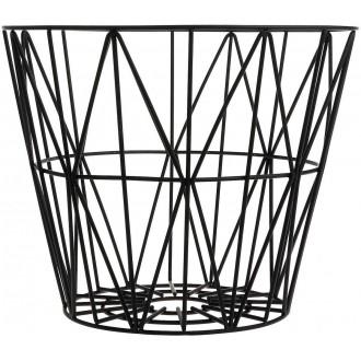 L - black - Wire basket