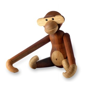 Small - H20cm - teak - monkey