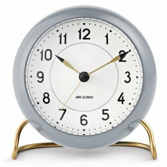 grey AJ Station table clock...