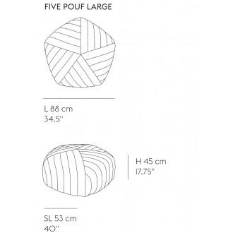 L88cm - Five pouf