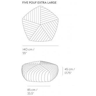 L140cm - Five pouf