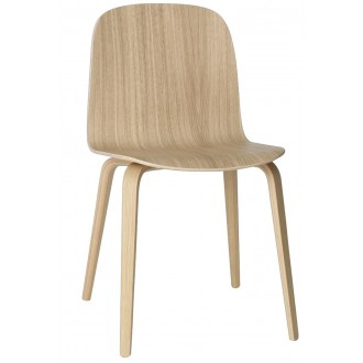 oak - wooden base Visu chair