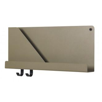 Folded shelf - olive - L51...