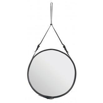 ø70cm - cuir noir - miroir...