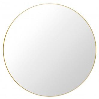 Ø110 cm - laiton - miroir Gubi