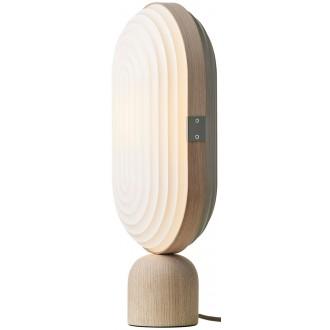 light oak - Arc table lamp