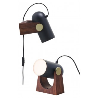 black - wall / table lamp -...
