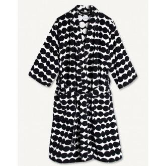 Räsymatto bathrobe - black