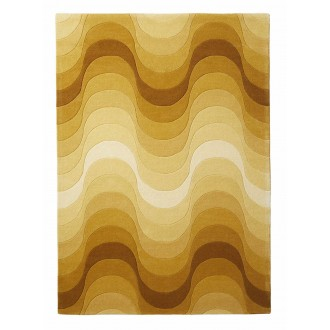 yellow - Wave rug 240 x 170 cm