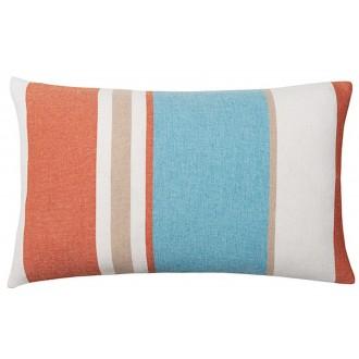 aqua/orange - cushion -...