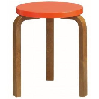 walnut + bright red - stool 60