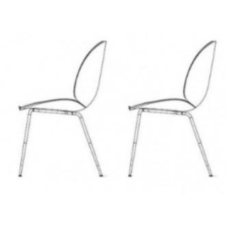 2 x plastic Beetle chair -...