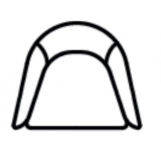 Boomerang armchair